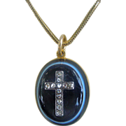 Banded Agate Locket In Memory of Lord Llanover, Victorian