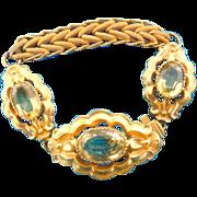 Metal, gilt, bracelet, paste, Victorian