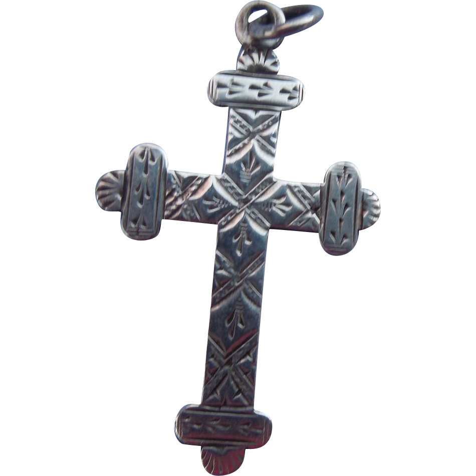 Silver (Sterling ) Cross, Edwardian