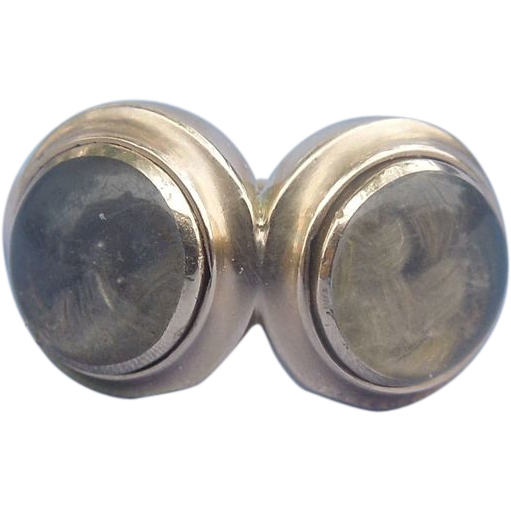 Double Locket Hair Ring, Georgian