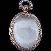 Gold, 9 carat, Glass, Locket, Victorian, Empty