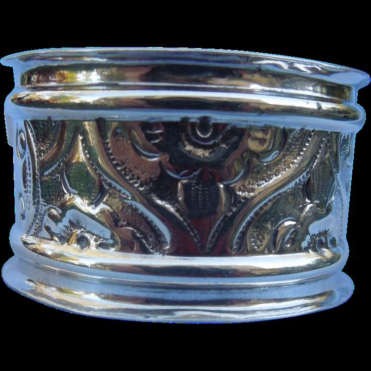 Silver (sterling) napkin ring,Edwardian, No Monogram