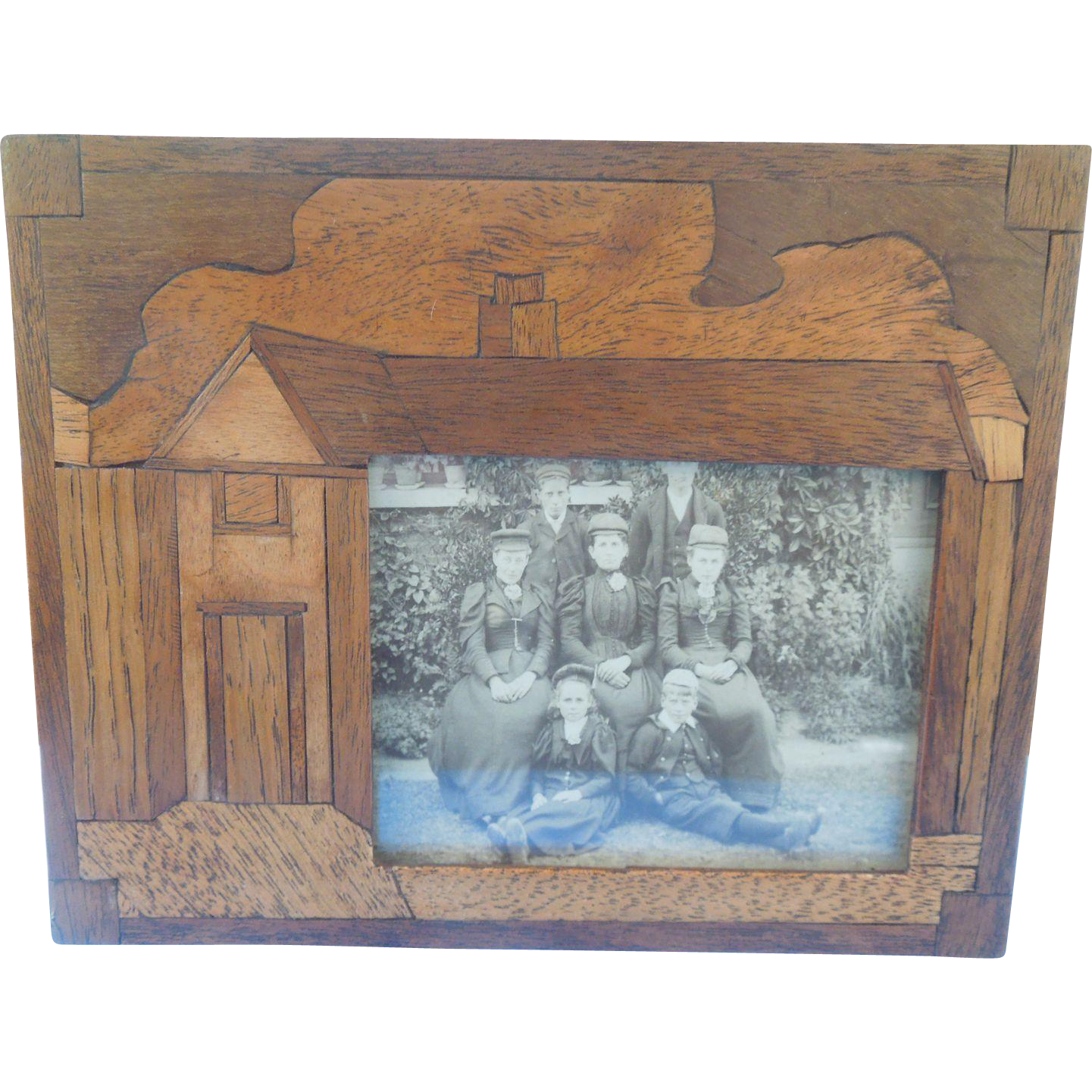 Wood Frame, Marquetry. Edwardian