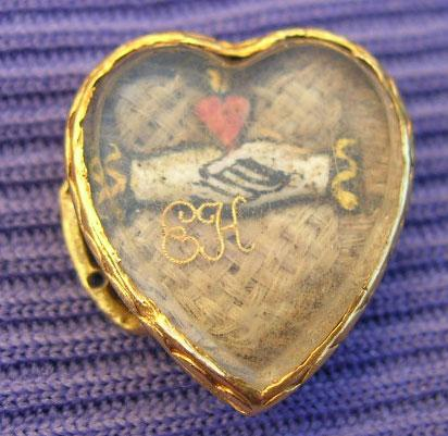 Stuart Crystal, Heart, Hands, 1687