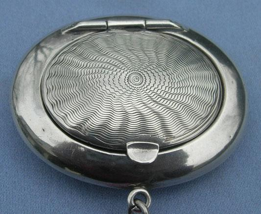 Silver (Sterling) Compact With Puff, 1917