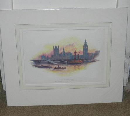 Color Print of The Houses of Parliament (Big Ben), Victorian