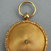 Mourning Jewelry, Memorial Jewelry, 15 Carat Locket, Hairwork, Miniature of Hairwork, Victorian
