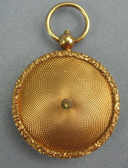 Mourning Jewelry, Memorial Jewelry, 15 Carat Locket, Hairwork, Miniature of Hairwork, Victorian