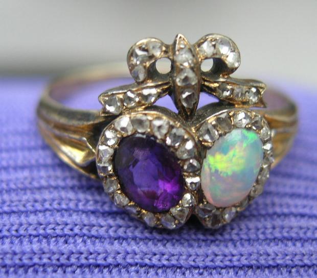 Garnet Tiara Ring
