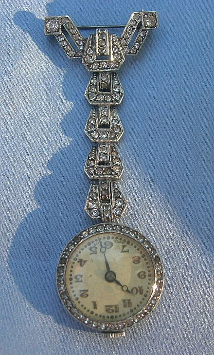 Silver and Paste Watch, 30's