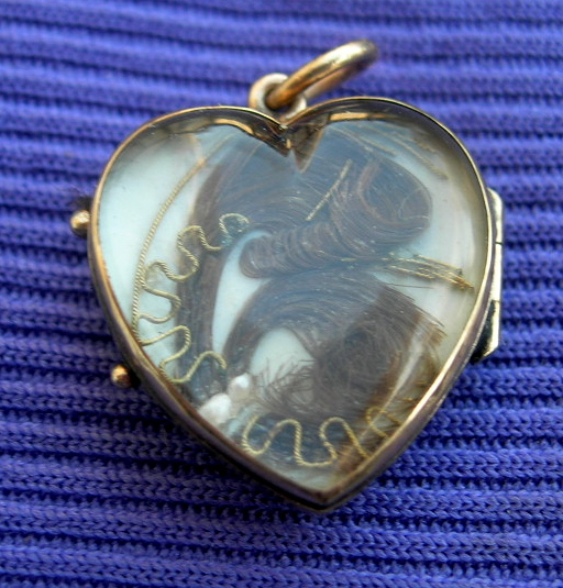 Heart Locket, Hair, Late Georgian