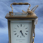Brass Carriage Clock, Victorian