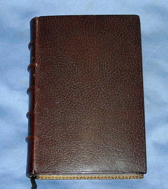 Leather Bound Book, The Poetical Works of James Russell Lowell, Victorian