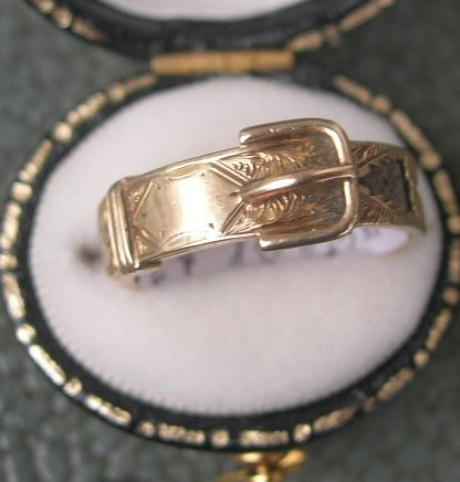 Victorian Buckle Ring, Hair