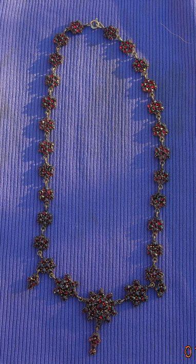Bohemian Garnet Necklace, Victorian
