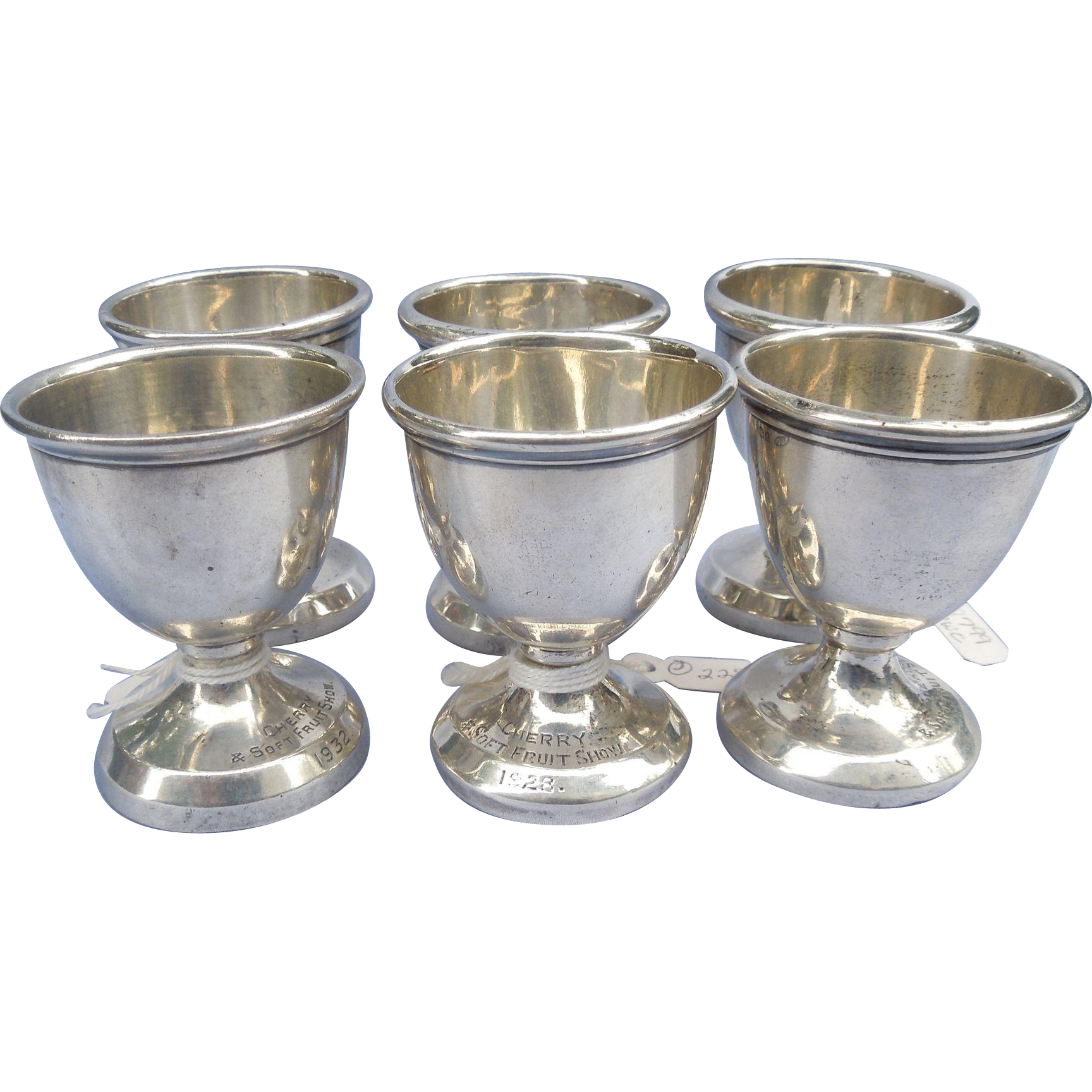 Silver (Sterling) trophy/Egg Cups, Vintage