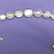 9 ct moonstone bracelet, Victorian