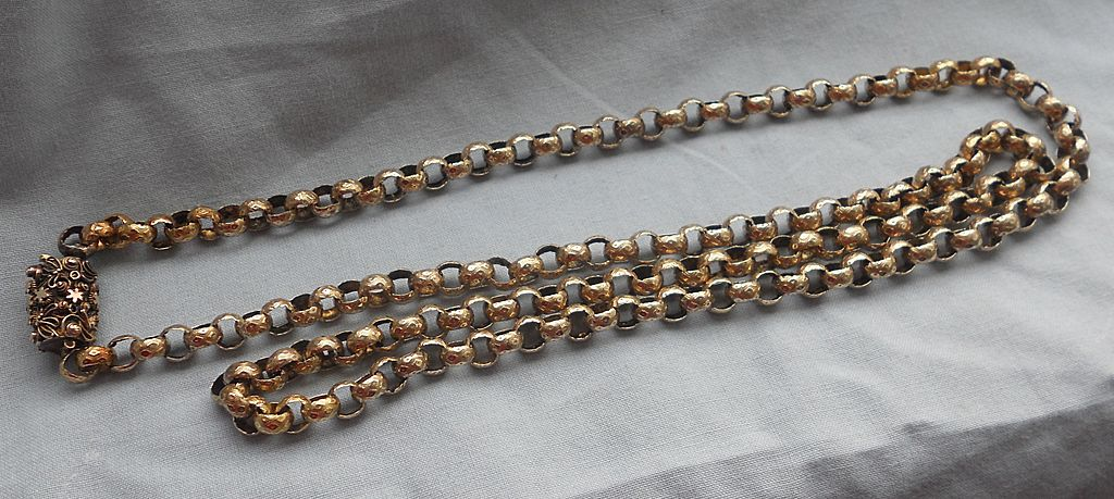 14 K, Georgian Chain, Barrel Clasp, 31 inch