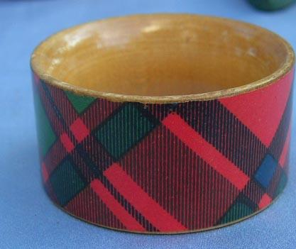 Tartan Napkin Ring, Victorian, Macintosh