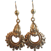 9 carat gold earrings, Victorian