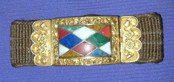 Hair Bracelet, 18 K Clasp, Scottish, Early Victorian