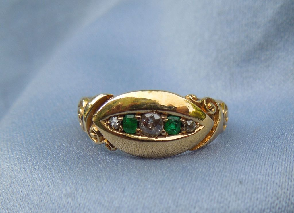 Emerald and Diamond Ring, Victorian