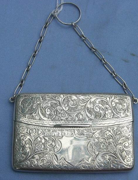Sterling Silver Card Case, Edwardian