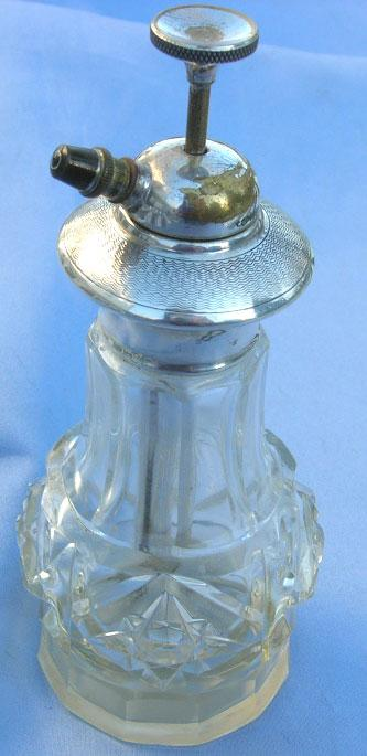 Silver  Perfume With Plunger, Edwardian