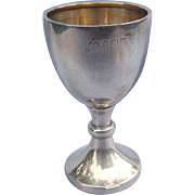 Silver (English Sterling) communion or cordial goblet, Vintage