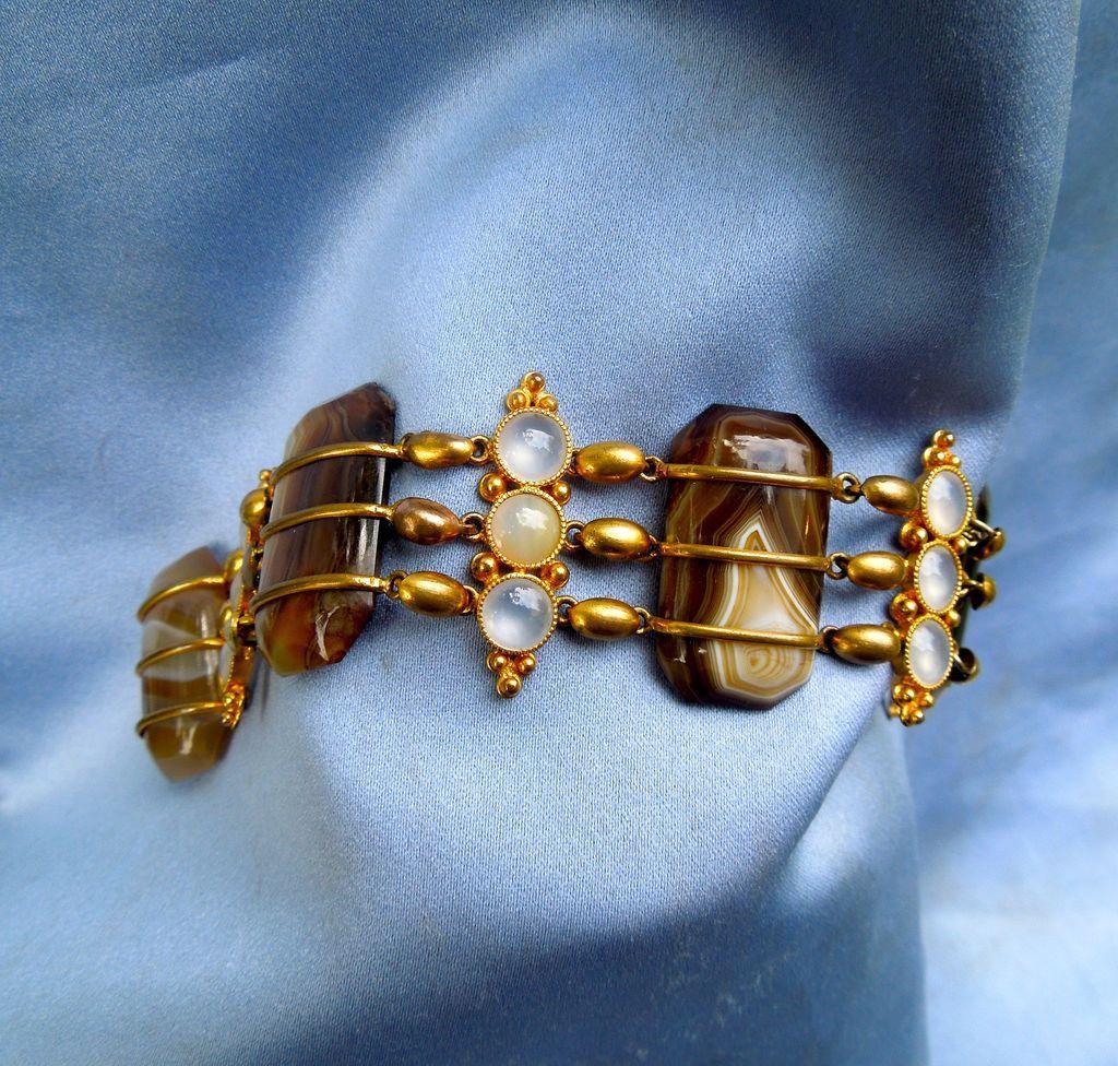 Agate Bracelet, Metal