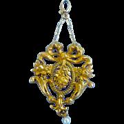 14 carat gold Lavalier, Pendant, Art Nouveau