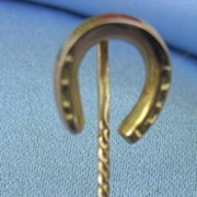 Horseshoe Stick Pin, 9 ct, Victorian