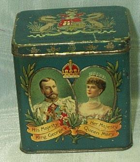 George V, Queen Mary Coronation Tin, 1911