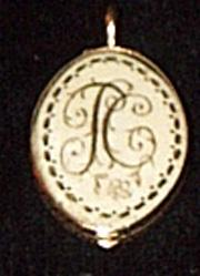 Gold Locket, Sepia Scribe , Hair On Reverse