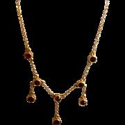 9 ct garnet necklace, Victorian