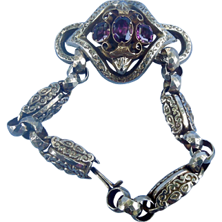 Almandine Garnet bracelet, Victorian, 15 carat