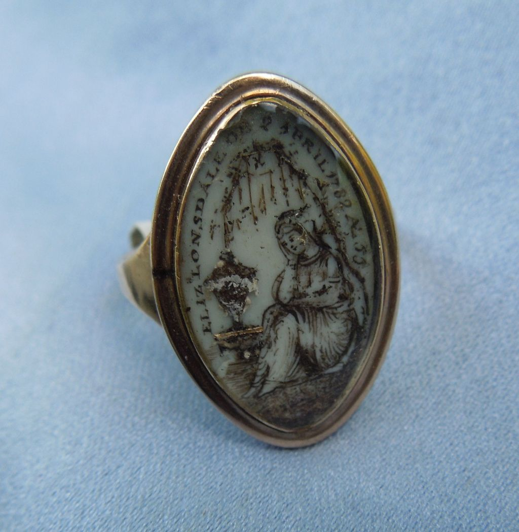 Mourning  Jewelry , Georgian Memorial, Ring