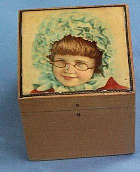 Mauchline Box, Young Girl With Glasses, Victorian