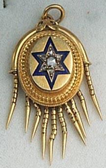 Mid Victorian Diamond and Blue Enamel Locket