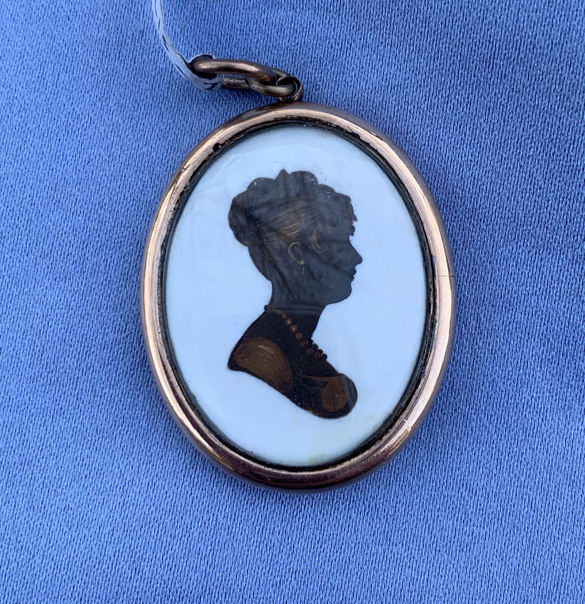 Silhouette  Of Woman by John Fields, 1800