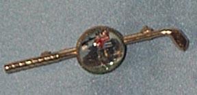 Tie Pin With Golfer Inside Glass