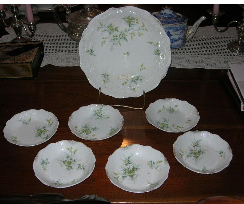 Berry Bowl Set, 7 Pieces , Austrian, Edwardian