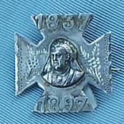 Victoria , Silver, Diamond Jubliee Brooch