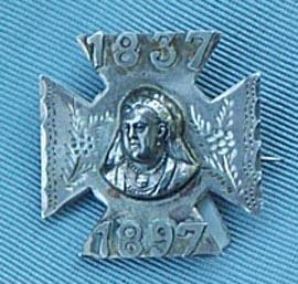 Victoria , Silver, Diamond Jubilee Brooch