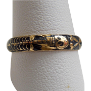 Body Ring, Mourning Band, Black Enamel, 1747