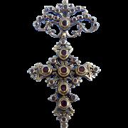 Ruby Cross, French, Georgian