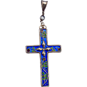 Silver and Enamel Cross, Arts and Crafts, 1890