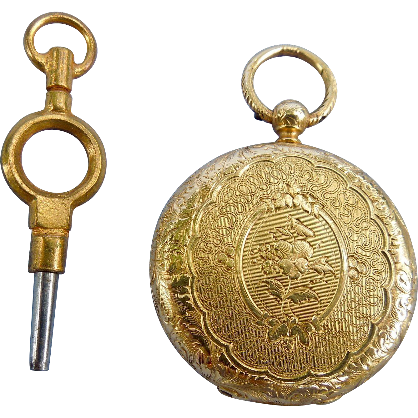 18 ct Hunter case pocket watch, 1820
