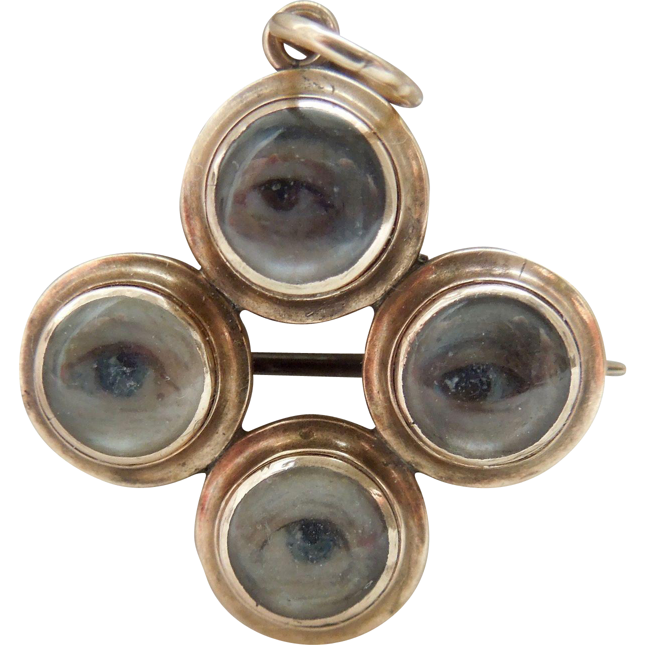 18 carat gold, Four Eye, Pendant/Brooch