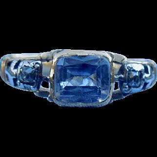 Sapphire and diamond Memorial Ring, 1794